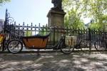Amsterdam bike with double barrow + fancy side bags.