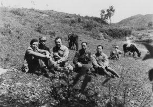 Gellhorn, Hemingway with Nationalist Soldier, China, 1940