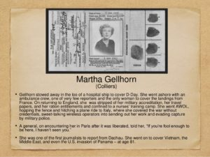 Books The Face of War Gellhorn Card