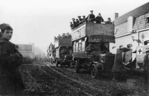 London buses to the first battle of Ypres, 6 November, 1914