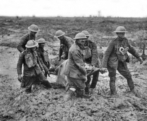 Stretcher Bearers, Ypres Saleint, August, 1917