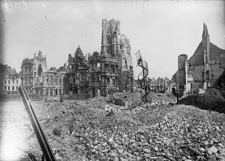 The Ruins of the Town Hall, Arras, Nov 1917