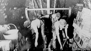 "Manchester's Edwardian sewer builders, who became known as the ""First Moles"" due to their WWI tunnel digging"